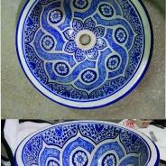 Lavoar ceramica, pictat manual